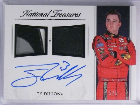SOLD 5783 2016 National Treasures Ty Dillon Dual Patch Autograph #D5/5 #SDMTD *65225