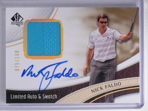 2014 SP Authentic Limited Nick Faldo Shirt Autograph #D075/100 #19 *65650