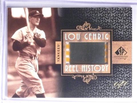 SOLD 2081 2007 Sp Legendary Cuts Reel History Lou Gehrig Slide Film #D 1/1  *58368