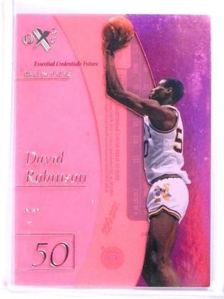 SOLD 5930 2012-13 Fleer Retro E-X David Robinson Credentials Future #D13/38 #EX5 *56952