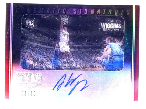 2014-15 Panini Gala Cinematic Sigs Andrew Wiggins autograph rc #D01/10 *63884