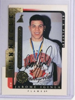 1996-97 Be A Player Link to History Jarome Iginla Autograph auto #LTH1a *65336