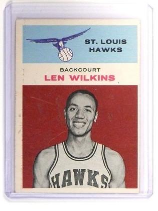 61-62 Fleer Len Wilkins rc rookie #44 EX *47318