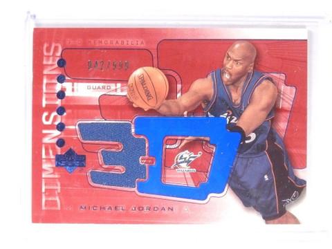 DELETE 9617 03-04 Uper Deck 3-D Dimensions Michael Jordan jersey #D42/999 #3DW36 *52142