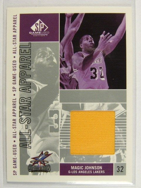 pretty nice 69e02 a0c65 02-03 Sp Game Used All Star Appael Magic Johnson jersey #MG-AS *26127