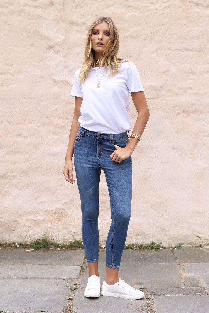 Madison Square Harper Jeans - Blue Denim