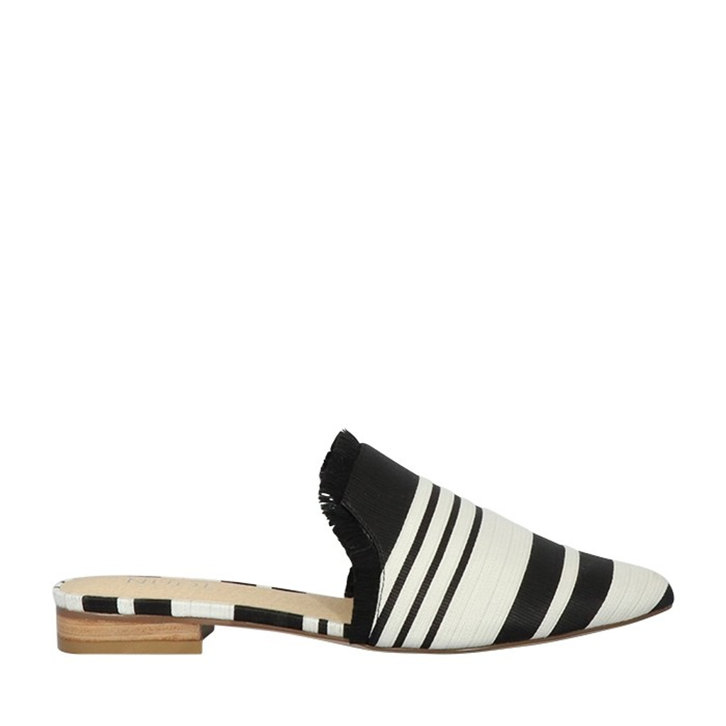 Nude Footwear Maya Slide - Black & White