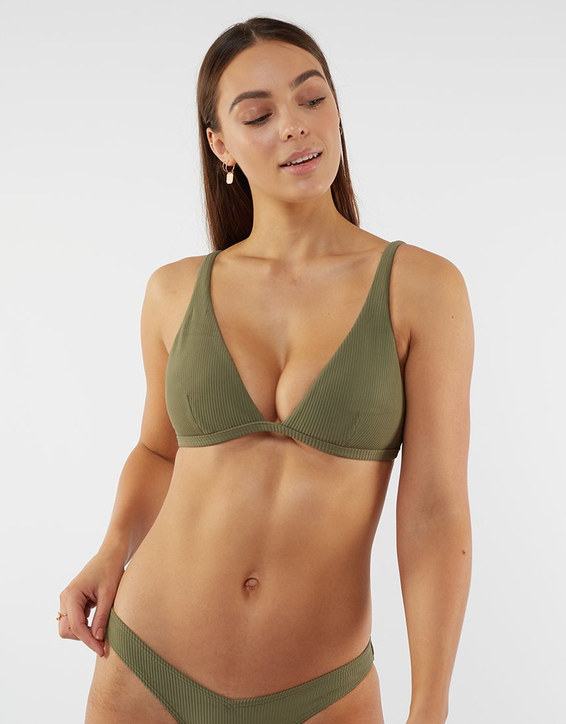 All About Eve Textured Rib Triangle D/DD Cup Khaki