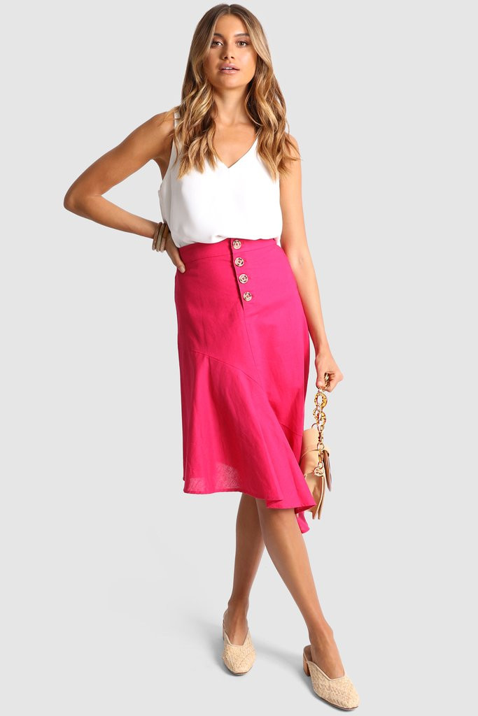 Madison The Label Maggie Skirt Fuchsia