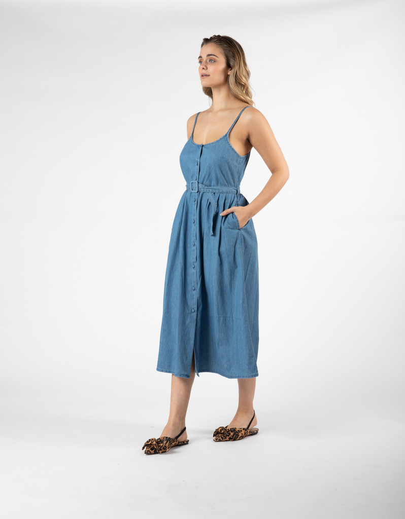 Sass Acid Wash Denim Dress