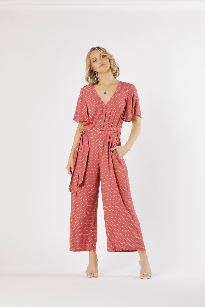 Fate & Becker Vision Of Love Jumpsuit Berry Spot