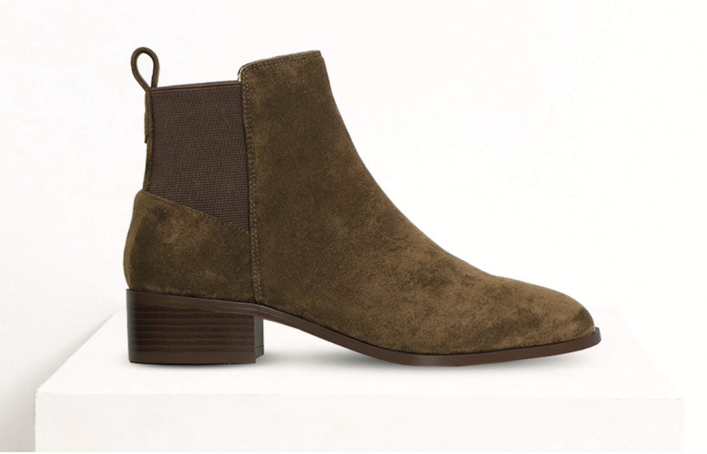 A:List Aniston Boot Olive Suede