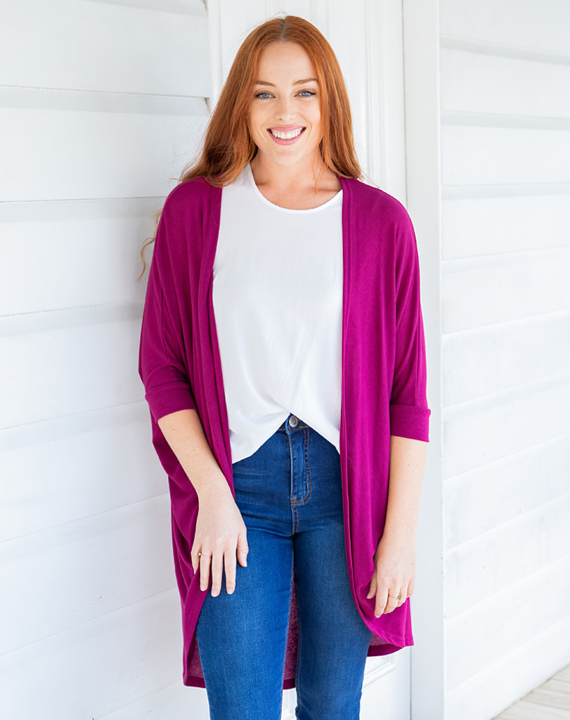 Freez Festival Shrug Plum