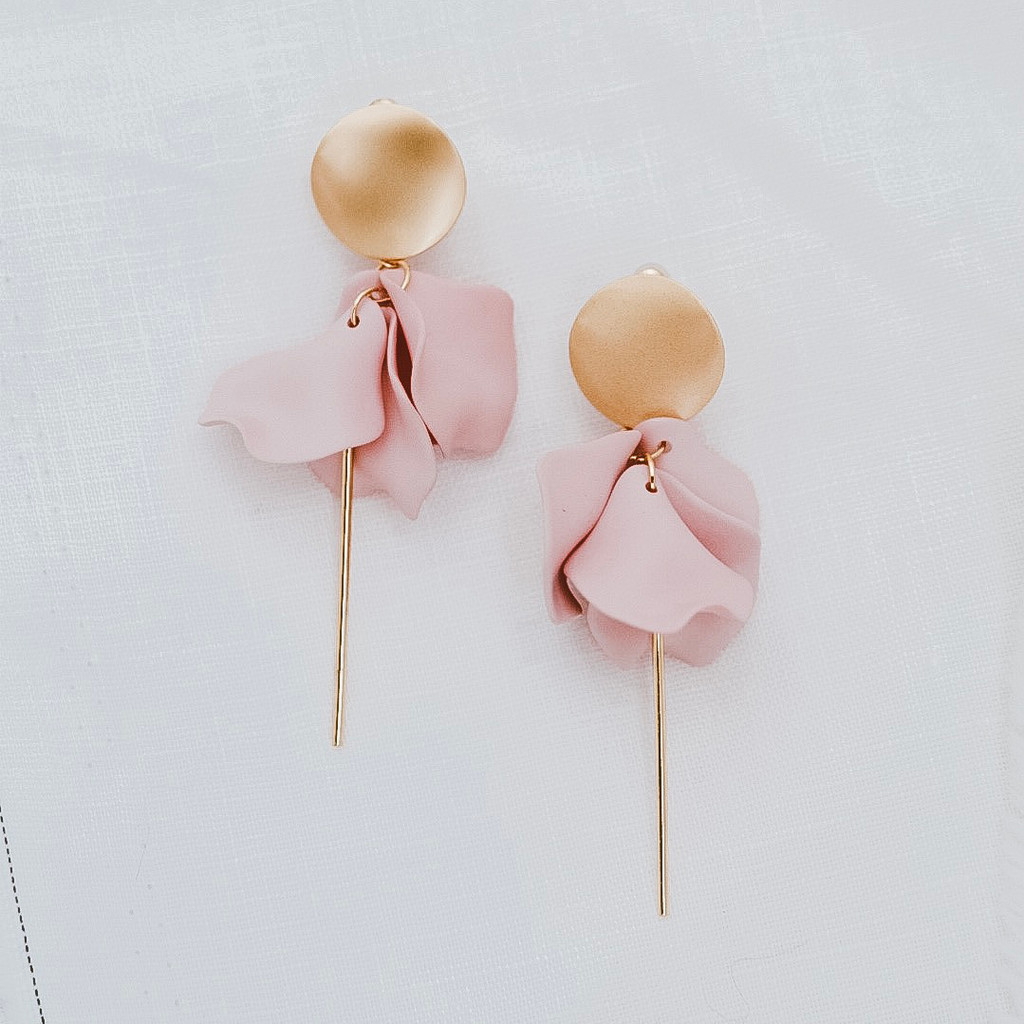 Sable & Dixie Esta Earrings Blush Pink