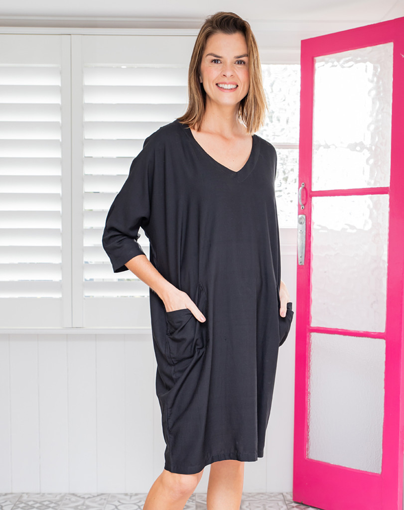 Freez Tunic Dress Black