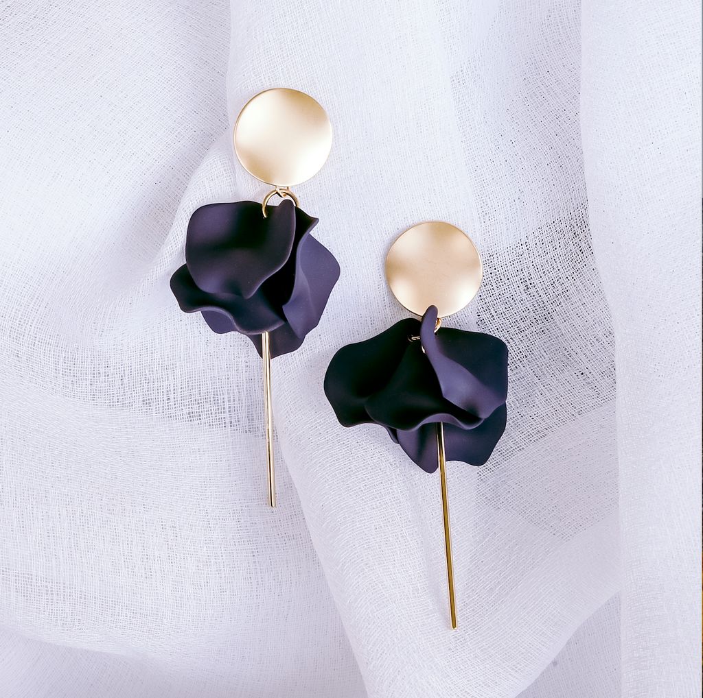 Sable & Dixie Esta Earrings Navy