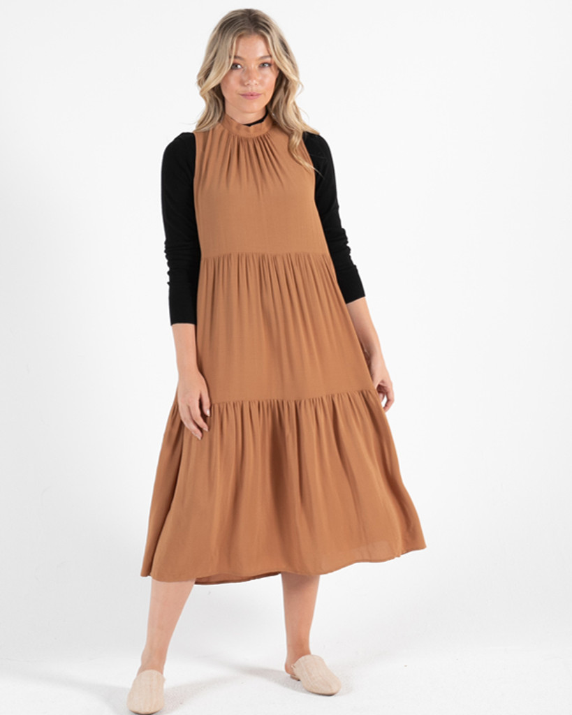 Sass Savanna Dress Toffee