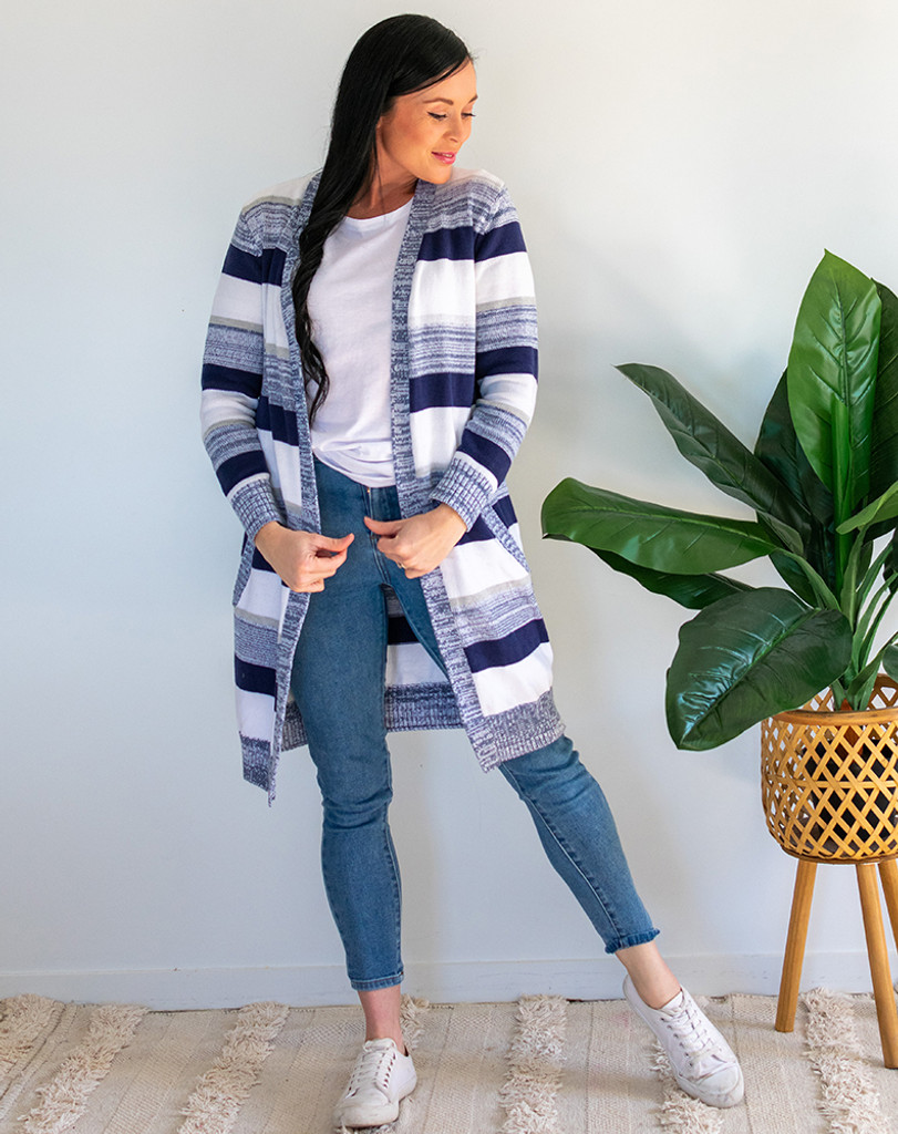 Bee Madison Candy Cardi Blue