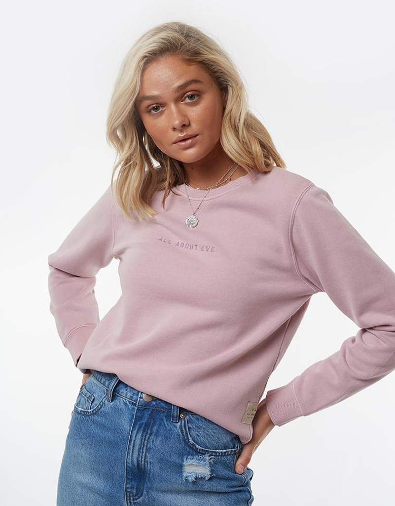 All About Eve Washed Crew Pink