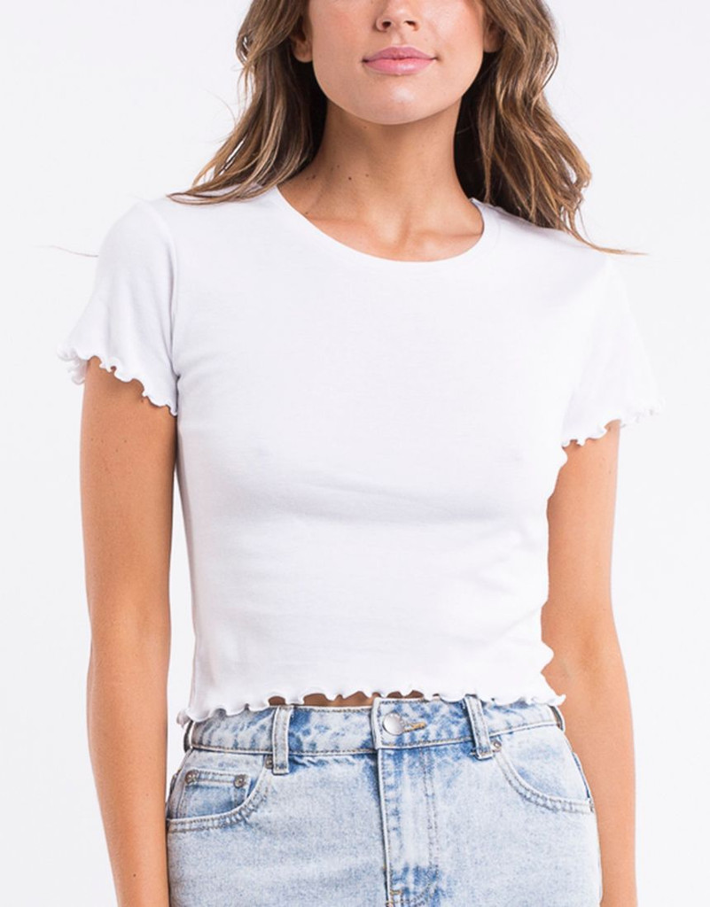 All About Eve Take You Away Tee White