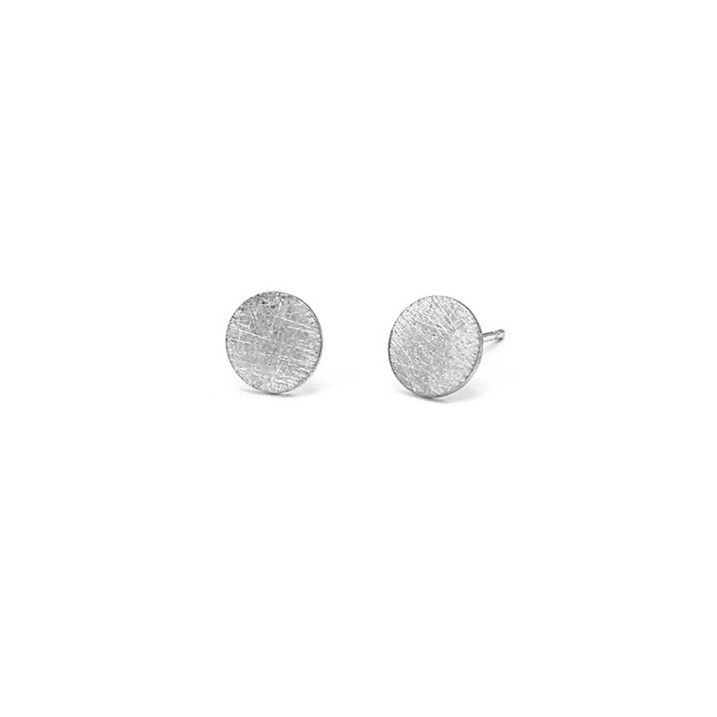 Jolie & Deen Circle Earrings Silver