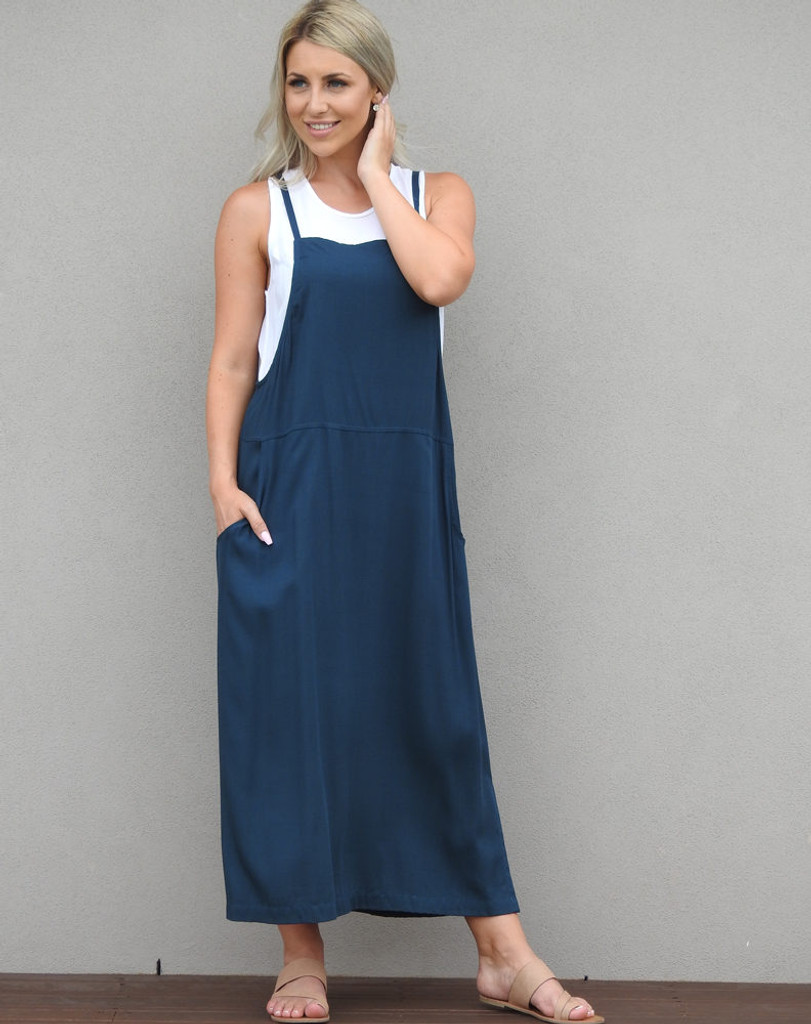 Freez Apron Dress Teal