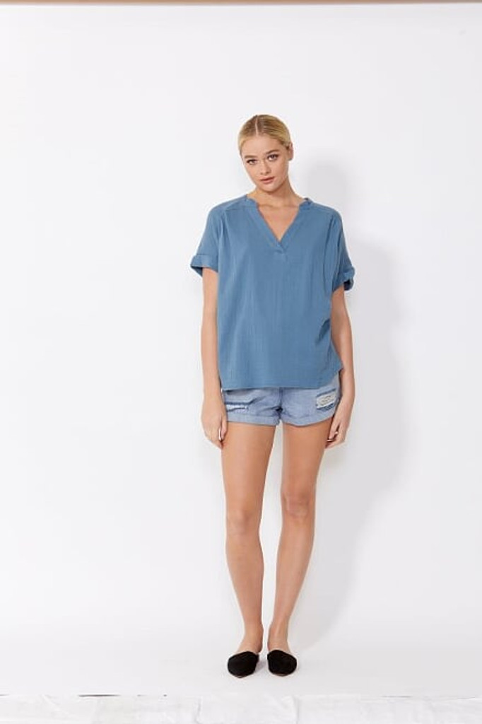 Sass Dharma Top Blue