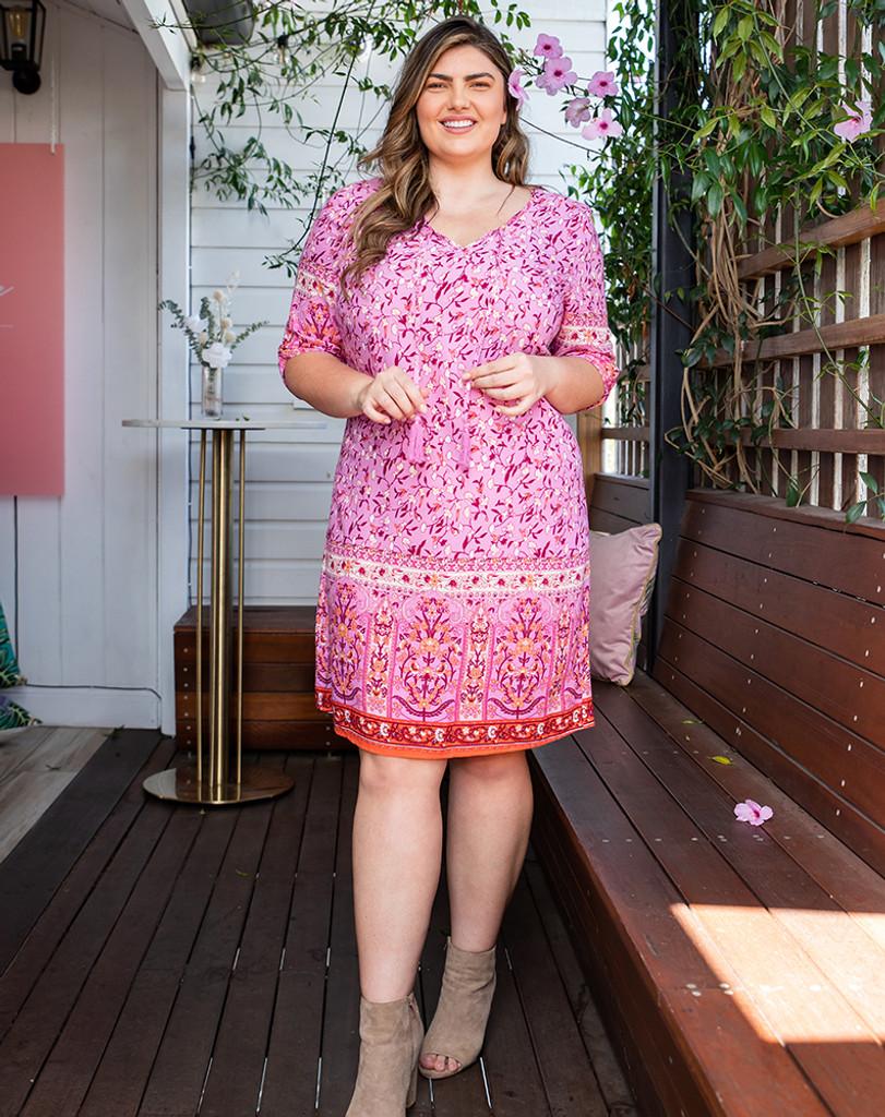Freez Tassel Tunic Dress