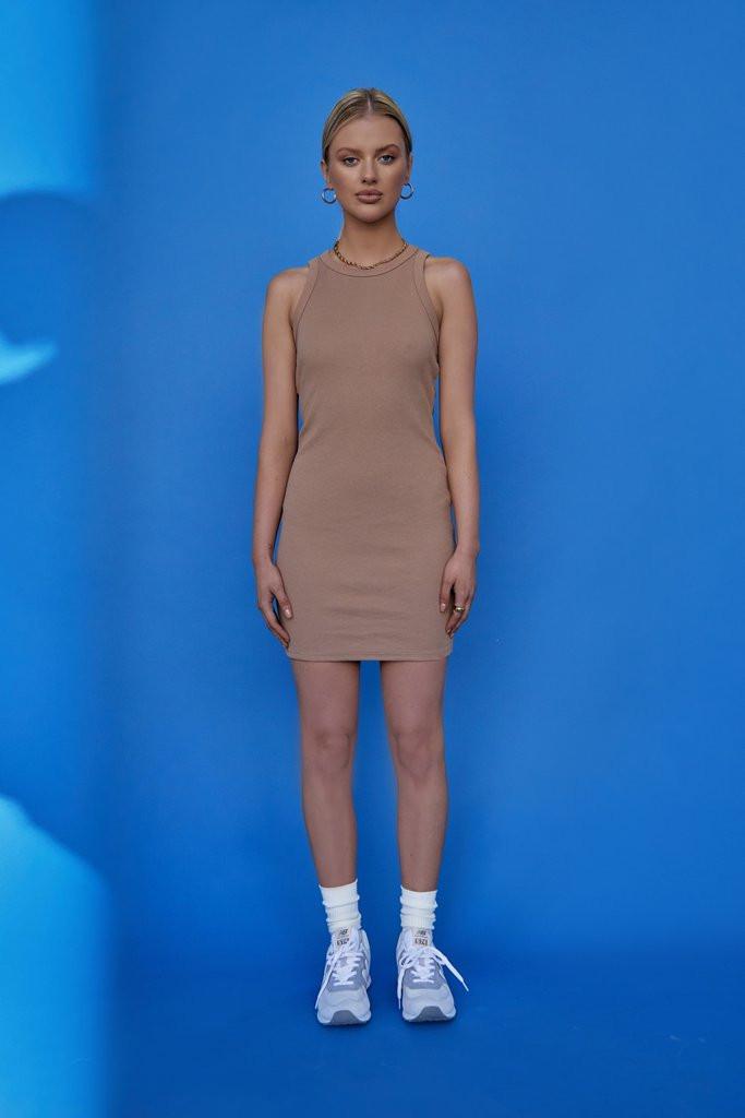 Madison The Label Faye Dress Mocha
