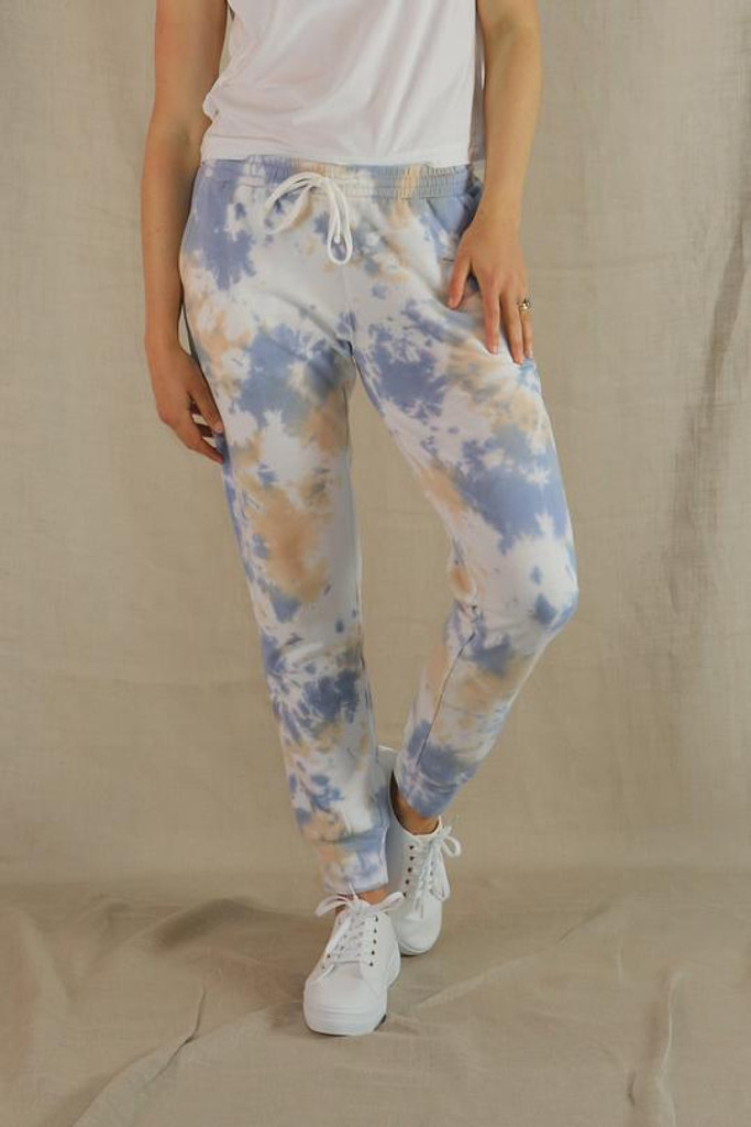 One Ten Willow Everyday Pant UFT Beige Blue Tie Dye