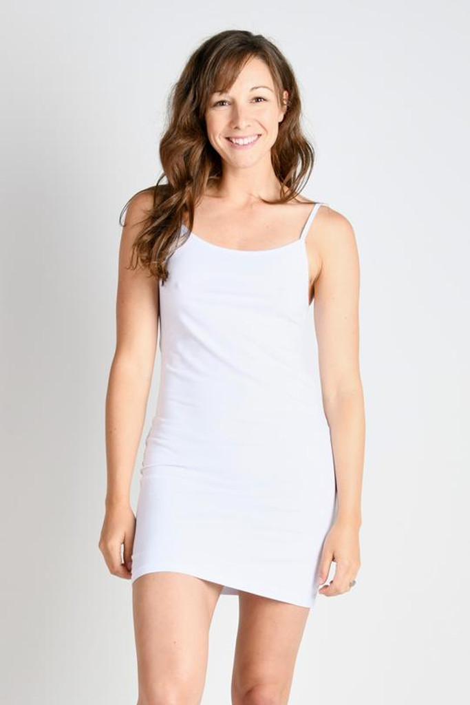 One Ten Willow Camisole Dress White