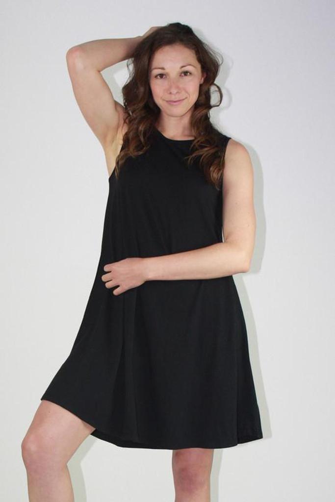 One Ten Willow Swing Tank Dress Black