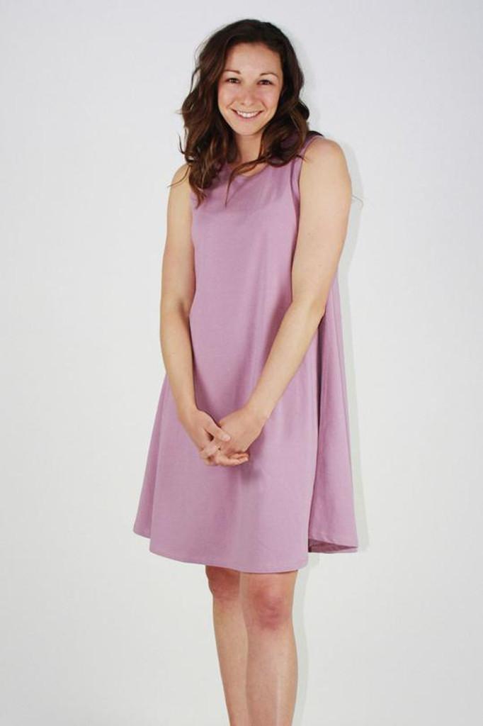 One Ten Willow Swing Tank Dress Lilac