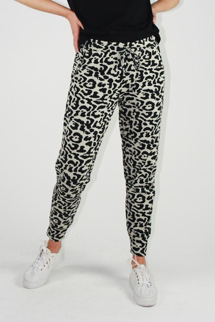 One Ten Willow Everyday Pant Khaki Animal Print