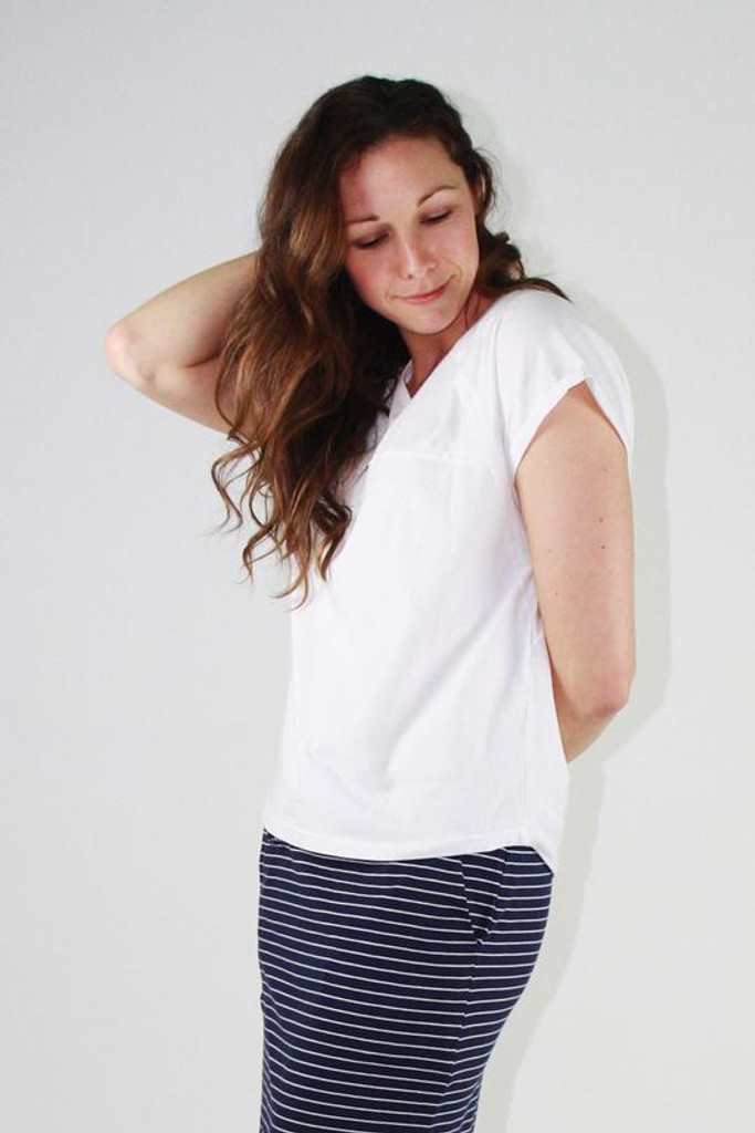 One Ten Willow Slouch Tee White