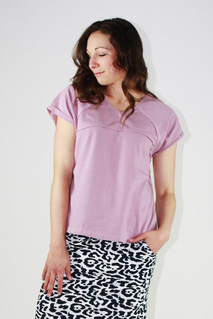 One Ten Willow Slouch Tee Lilac