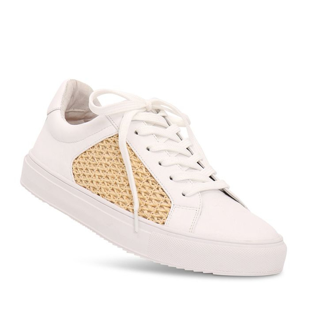 Nude Footwear Mae Sneaker White Leather