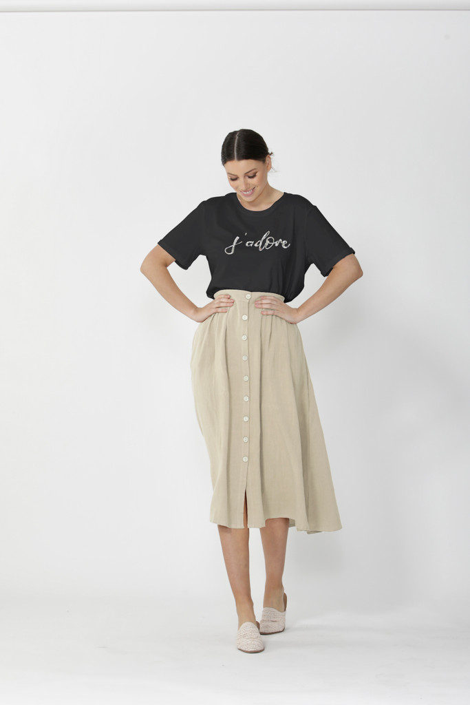 Sass Sutton Skirt Natural