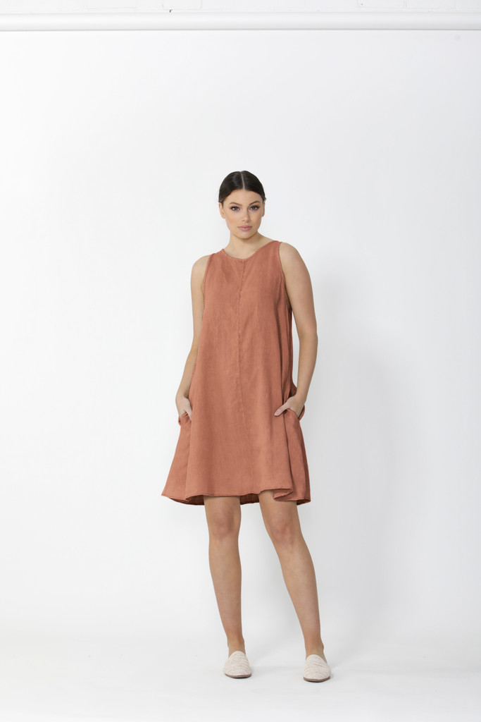 Sass Sutton Dress Terracotta