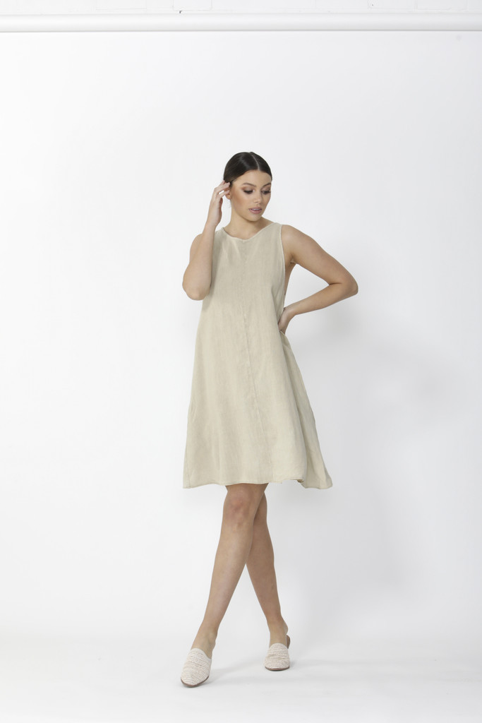 Sass Sutton Dress Natural