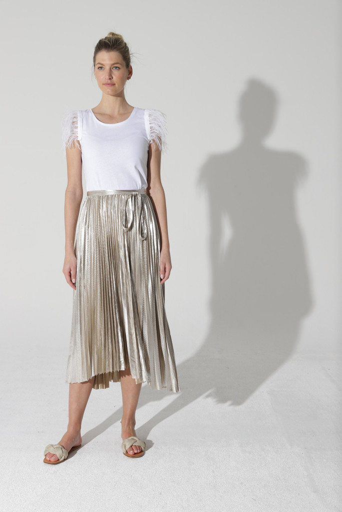 Fate & Becker Moonstruck Skirt Gold