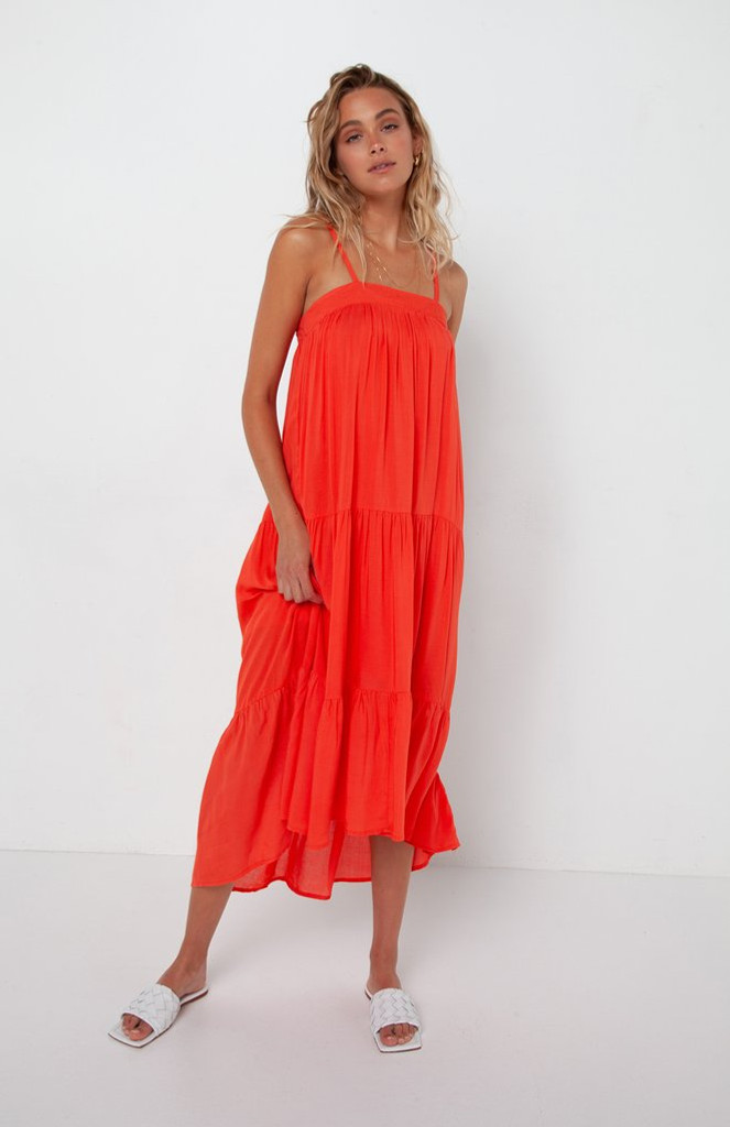 Madison The Label Quinn Dress Coral