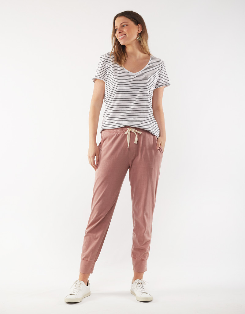 Elm Wash Out Lounge Pant Peony Pink