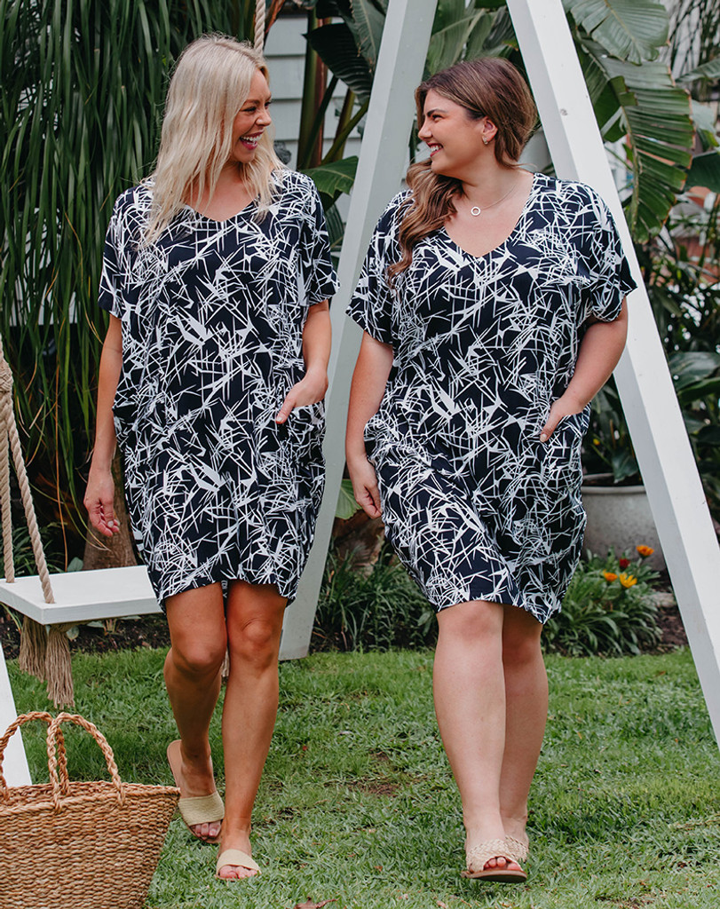 Freez Pocket Dress Splash Print