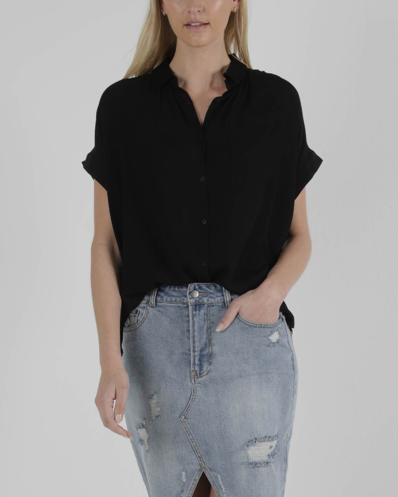 Sass Camille Shirt Black