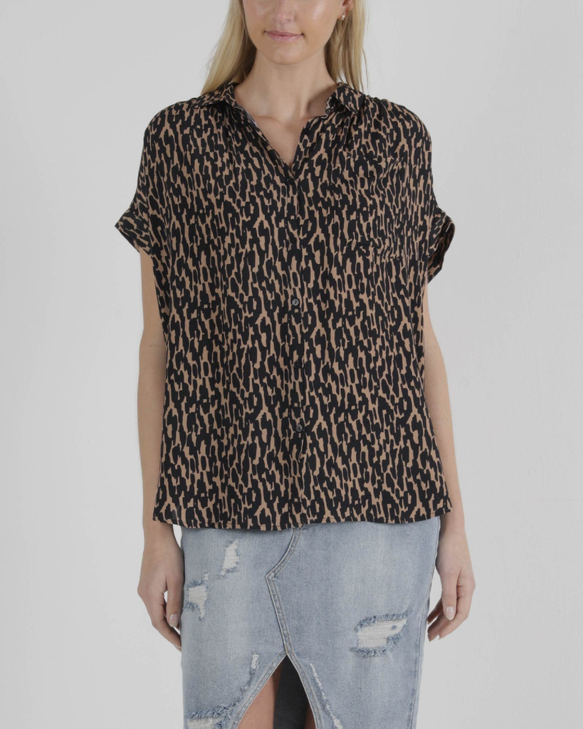 Sass Camille Shirt Animal Print
