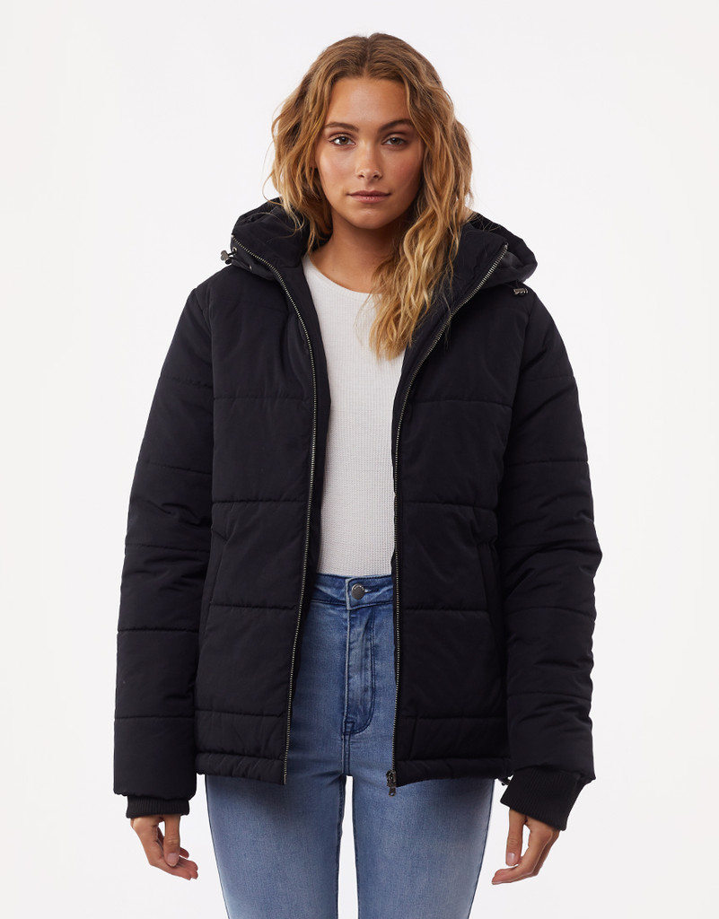 All About Eve Essential Puffer Jacket Black