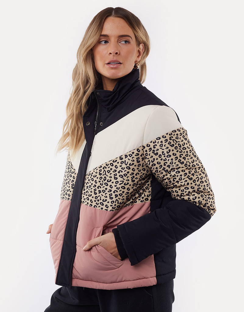 All About Eve Distinct Panel Puffer Jacket