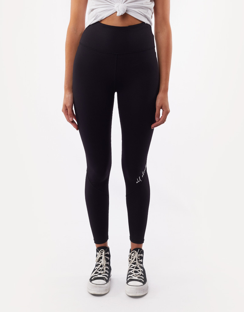 All About Eve Script Legging Black