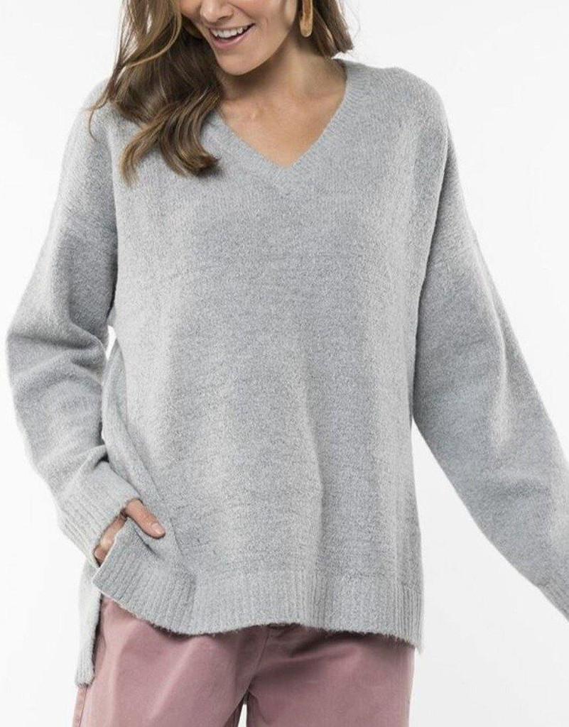 Elm Morning Mist Knit Grey